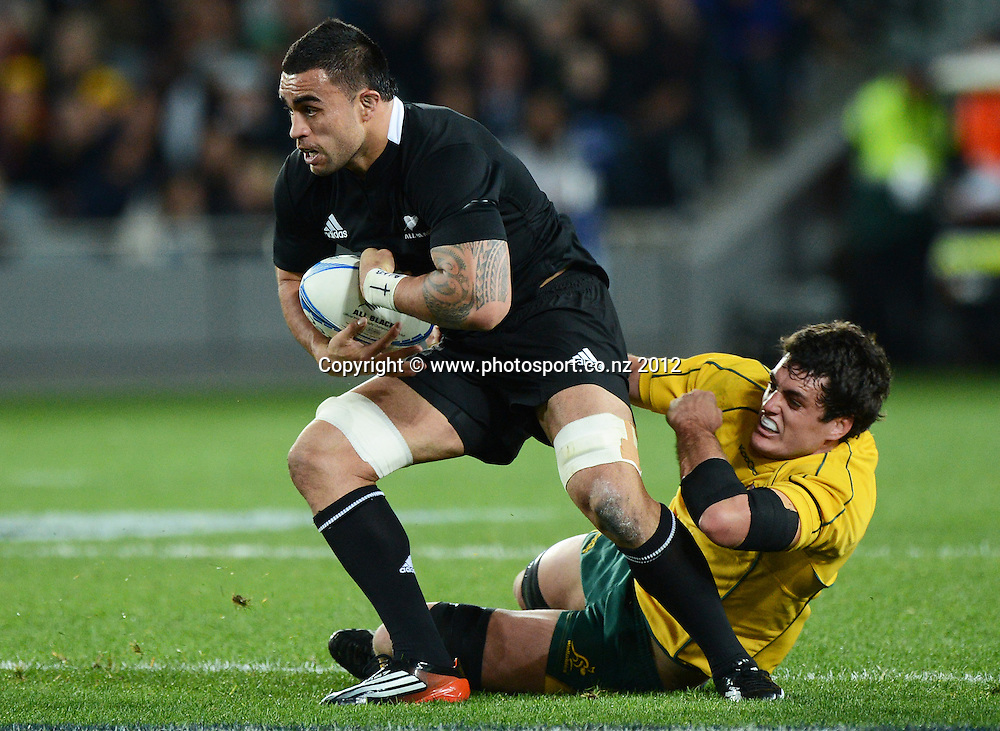 Liam Messam during the Rugby Championship and Bledisloe Cup Rugby Union test match, New Zealand All Blacks versus Australian Wallabies at Eden Park, Auckland, New Zealand. Saturday 25 August 2012.  Photo: Andrew Cornaga/Photosport.co.nz