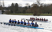 Henley, GREAT BRITAIN,  Men's OJ14 8X+, Bedford School  passing Upper Thames RC, National Junior Sculling Head, Henley on Thames,   03/03/2008  2008. [Mandatory Credit, Peter Spurrier/Intersport-images] Rowing Courses, Henley Reach, Henley, ENGLAND