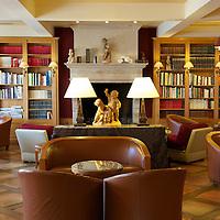Lounge at the Relais & Chateaux La Cote Saint-Jacques in Joigny.
