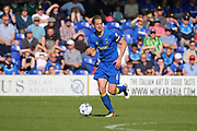 AFC Wimbledon defender Paul Robinson (6) controlling the ball and starting an attack during the EFL Sky Bet League 1 match between AFC Wimbledon and Bristol Rovers at the Cherry Red Records Stadium, Kingston, England on 8 April 2017. Photo by Matthew Redman.