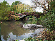 The Pond and Gapstow Bridge in Central Park, New York City