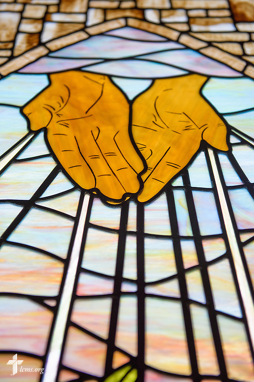 Stained glass at Mount Olive Lutheran Church, on Thursday, March 3, 2016, in Loveland, Colo. LCMS Communications/Erik M. Lunsford