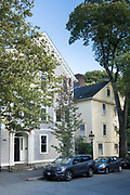 Traditional elegant period houses along Benefit Street in Providence, Rhode Island, USA