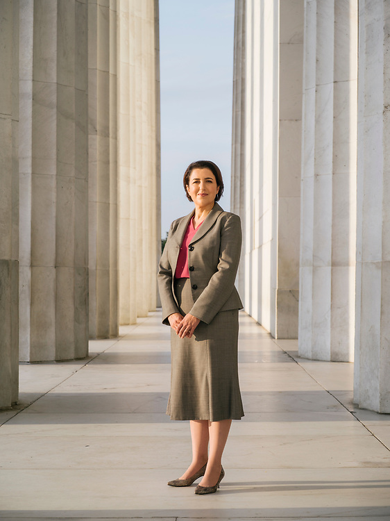 Bayan Rahman, Kurdisan Regional Goverment representative in the United States, at the Lincoln Memorial in Washington, D.C. on August 31, 2017.