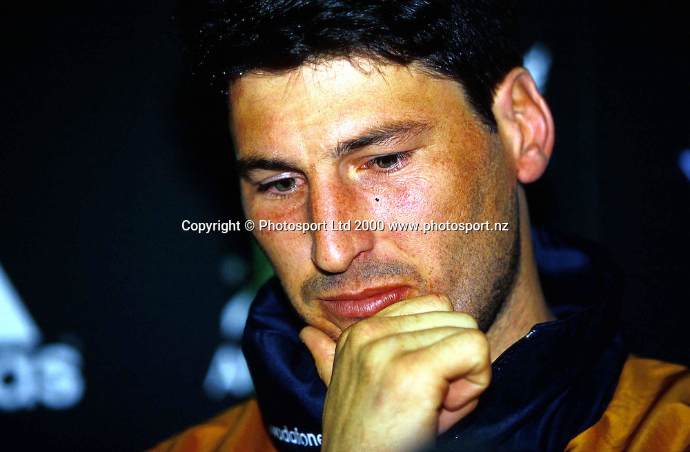 John Eales after the international rugby union match between the All Blacks and Australia at Athletic Park, Wellington, on August 5 2000. Photo: PHOTOSPORT