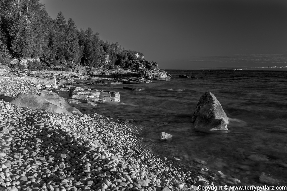 black and white Canada, Bruce Peninsula