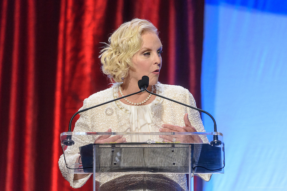 Philanthropist and businesswoman Cindy Hensley McCain recipient of the prestigious Muhammad Ali Humanitarian Award for Lifetime Achievement at the fourth annual Muhammad Ali Humanitarian Awards Saturday, Sept. 17, 2016 at the Marriott Hotel in Louisville, Ky. (Photo by Brian Bohannon for the Muhammad Ali Center)