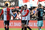 23-10-2016: Voetbal: Feyenoord v Ajax: Rotterdam<br /> <br /> (L-R) Feyenoord speler Dirk Kuyt scoort de gelijkmaker (1-1) tijdens het Eredivsie duel tussen Feyenoord en Ajax op 23 oktober in stadion Feijenoord (de Kuip) tijdens speelronde 10<br /> <br /> Eredivisie - Seizoen 2016 / 2017<br /> <br /> Foto: Gertjan Kooij