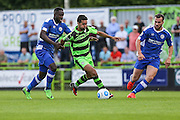 Forest Green Rovers Fabien Robert (26) bursts clear during the Vanarama National League match between Forest Green Rovers and Gateshead at the New Lawn, Forest Green, United Kingdom on 13 August 2016. Photo by Shane Healey.