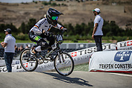 Women Junior #148 (ENDLEIN Carina) GER at the 2018 UCI BMX World Championships in Baku, Azerbaijan.