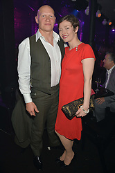 CAMILLA RUTHERFORD and DOMINIC BURNS at The London Cabaret Club Gala Launch Party at The Collection, 264 Brompton Road, London on 8th May 2014.