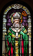 St. Patrick window inside St. Mary's Basilica in Phoenix. © 2013 Nancy Wiechec Photography
