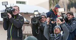 20.02.2016, Grenzübergang, Gries am Brenner, AUT, Demonstration gegen Grenzsicherungsmaßnahmen am Brenner, im Bild Medien // during a demonstration against cross assurance measures at the border from Italy to Austria in Gries am Brenner, Austria on 2016/02/20. EXPA Pictures © 2016, PhotoCredit: EXPA/ Jakob Gruber