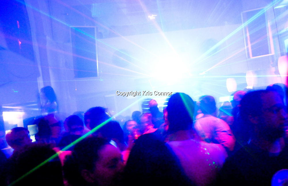Patrons dance at Utrabar nightclub in Washington DC.