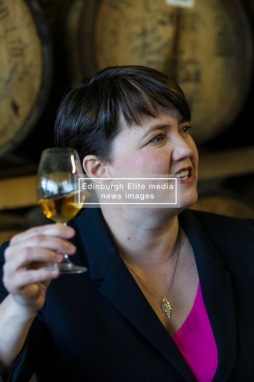 Leader of the Scottish Conservative & Unionist  Party, Ruth Davidson, joins the candidates for the European Parliament Elections at Deanston Distillery in Doune near Stirling