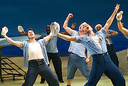 Lincoln Center Theater production of Rodgers &amp; Hammerstein's<br /> <br /> South Pacific <br /> <br /> Directed by Bartlett Sher <br /> <br /> Musical Staging by Christopher Gattelli<br /> Sets by Michael Yeargan<br /> Lighting by Donald Holder<br /> Costumes by Catherine Zuber<br /> Sound by Scott Lehrer<br /> Music Direction by Ted Sperling<br /> Original Orchestrations by Robert Russell Bennett<br /> <br /> at The Barbican Theatre, London, Great Britain <br /> <br /> 22nd August 2011 <br /> <br /> Chris Jenkins (as Swing)<br /> <br /> Photograph by Elliott Franks