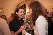 VICTORIA SIDDALL; BELINDA BOWRING, Valeria Napoleone hosts a dinner at her apartment e to celebrate the publication of her book  Valeria Napoleone's Catalogue of Exquisite Recipes. Palace Green. Kensington. London. 28 September 2012.