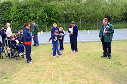 Precision bean bag event at Mini games sports event held at Stoke Mandeville Stadium,