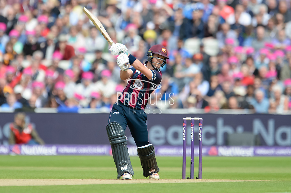 Ben Duckett of Northants Steelbacks batting during the NatWest T20 Blast Semi Final match between Nottinghamshire County Cricket Club and Northamptonshire County Cricket Club at Edgbaston, Birmingham, United Kingdom on 20 August 2016. Photo by David Vokes.