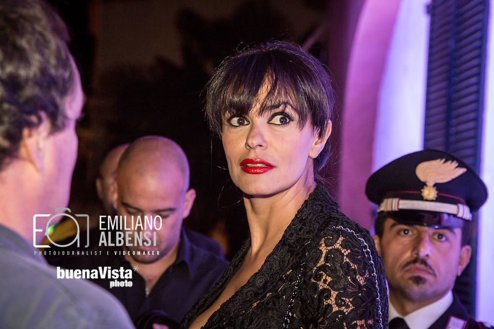 Maratea, Basilicata, Italia, 19/08/2014<br /> L'attrice siciliana Maria Grazia Cucinotta alla Settimana del Cinema di Maratea 2014<br /> <br /> Maratea, Basilicata, Italy, 19/08/2014<br /> The Sicilian actress Maria Grazia Cucinotta in Maratea for the Week of Cinema 2014