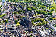Nederland, Noord-Brabant, Den Bosch, 13-05-2019; binnenstad van 's-Hertogenbosch met Sint-Janskathedraal, formeel De Kathedrale Basiliek van Sint Jan Evangelist. Hinthammerstraat, Zuid-Willemsvaart.<br /> City center of 's-Hertogenbosch with St. John's Cathedral.<br /> <br /> luchtfoto (toeslag op standard tarieven);<br /> aerial photo (additional fee required);<br /> copyright foto/photo Siebe Swart
