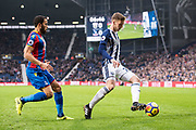 Crystal Palace #10 Andros Townsend, West Bromwich Albion (28) Sam Field during the Premier League match between West Bromwich Albion and Crystal Palace at The Hawthorns, West Bromwich, England on 2 December 2017. Photo by Sebastian Frej.