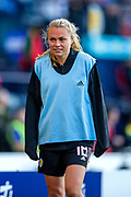 Claire Emslie (#18) of Scotland after being substituted during the International Friendly match between Scotland Women and Jamaica Women at Hampden Park, Glasgow, United Kingdom on 28 May 2019.