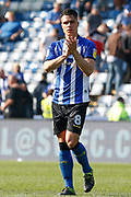 Joel Pelupessy of Sheffield Wednesday applauds fans after the EFL Sky Bet Championship match between Sheffield Wednesday and Bristol City at Hillsborough, Sheffield, England on 22 April 2019.