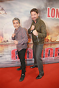 """Apr 02, 2016 - Hong Kong, China - British actor and producer Gerard Butler (R) and actor Simon Yam attend a celebration party of new movie """"London Has Fallen"""" <br /> (Credit Image: © Exclusivepix Media)"""