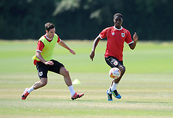 Bristol City's Greg Cunningham with Bristol City's Jordan Wynter - Photo mandatory by-line: Dan Rowley/JMP - Tel: Mobile: 07966 386802 02/07/2014 - SPORT - FOOTBALL - Bristol -  Bristol City Training