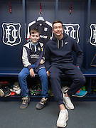 Kids who starred in  Dundee new kit teaser video pictured with player Dundee&rsquo;s Cammy Kerr<br /> <br />  - &copy; David Young - www.davidyoungphoto.co.uk - email: davidyoungphoto@gmail.com