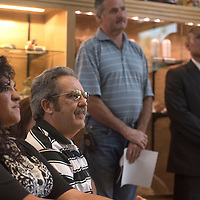 063015      Cayla Nimmo<br /> <br /> Grants Martin Hicks attends the address by Governor Susana Martinez for the city for the tourism efforts at the Mining Museum Tuesday.