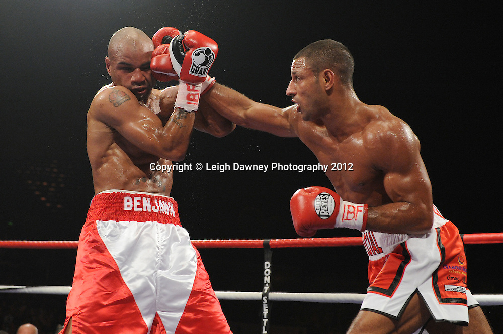 Kell Brook defeats Carson Jones for the IBF Welterweight Title at the Motorpoint Arena, Sheffield, United Kingdom on the 7th July 2012. Promoted by Matchroom Sport. ©Leigh Dawney Photography 2012.