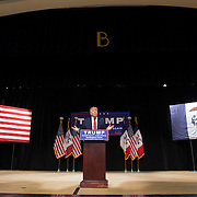 Republican presidential candidate Donald Trump at a campaign rally at the Memorial Auditorium in Burlington, Iowa.<br /> Photography by Jose More