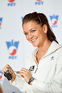 Agnieszka Radwanska during press conference of Polish Tennis Association before Fed Cup match at National Stadium in Warsaw, Poland.<br /> <br /> Poland, Warsaw, December 15, 2014<br /> <br /> Picture also available in RAW (NEF) or TIFF format on special request.<br /> <br /> For editorial use only. Any commercial or promotional use requires permission.<br /> <br /> Mandatory credit:<br /> Photo by © Adam Nurkiewicz / Mediasport