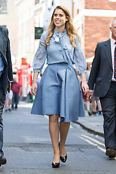 © Licensed to London News Pictures. 09/06/2016. York UK. HRH Princess Beatrice takes a walk through the streets of York after visiting the set of the York Minster Mystery Plays today. Photo credit: Andrew McCaren/LNP