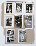a page out of a family album with various photo?s 1939 and 1948