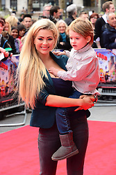 Nicola McLean attends The Lego Movie VIP film screening of CGI adventure, starring some of Lego's most popular figures, which features the voices of Elizabeth Banks, Chris Pratt, Will Arnett and Morgan Freeman, at Vue West End, London, United Kingdom. Sunday, 9th February 2014. Picture by Nils Jorgensen / i-Images