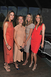Left to right, YASMIN LE BON, NATALIA VODIANOVA, ELLE MACPHERSON and GAIL ELLIOTT at a dinner hosted by Calvin Klein Collection to celebrate the future Home of The Design Museum at The Commonwealth Institute, Kensington, London on 13th October 2011.