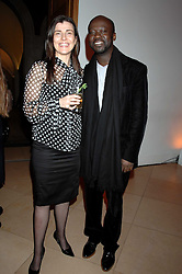 Curator of the exhibition SUSAN BRIGHT and leading architect DAVID ADJAYE at the opening party for 'Face of Fashion' an exhibition of photographs by five of the World's leading fashion photographers held at the National Portrait Gallery, St.Martin's Lane, London on 12th February 2007.<br />