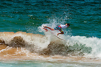 American pro surfer Evan Geiselman competing in the men's pro finals of the Australian Open of Surfing, Manly Beach, Sydney, New South Wales, Australia
