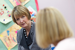 © Licensed to London News Pictures . 14/11/2012 . Manchester , UK . The Deputy Leader of the Labour Party , HARRIET HARMAN , at a Sure Start centre at Manchester Town Hall , today (Wednesday 14th November 2012) . Harriet Harman joins Lucy Powell who is standing for the constituency of Manchester Central in the city's upcoming by-election . Photo credit : Joel Goodman/LNP