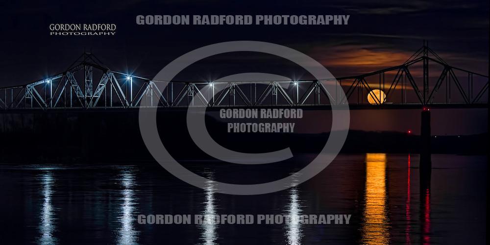 Full Moon over the Missouri River.  Washington, Mo.