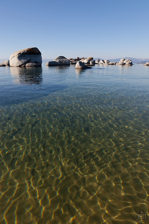 """""""Boulders at Lake Tahoe 14"""" - These boulders were photographed in the early morning near Speedboat Beach, Lake Tahoe."""