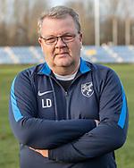 FODBOLD: Cheftræner Lars Dahlin ved Ølstykke FC's officielle fotosession den 26. marts 2019 på Ølstykke Stadion. Foto: Claus Birch