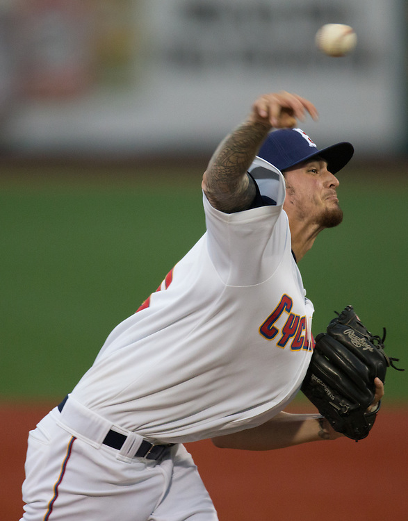 Andrew Church of the Brooklyn Cyclones during a New York Penn League game against the Hudson Valley Renegades on July 9, 2015 at MCU Park in Coney Island, Brooklyn, NY. (Dustin Satloff / Brooklyn Cyclones)