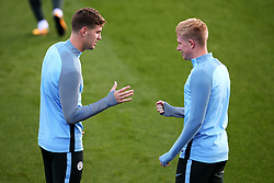 John Stones and Kevin De Bruyne of Manchester City  - Mandatory by-line: Matt McNulty/JMP - 12/09/2017 - FOOTBALL - City Football Academy - Manchester, England - Feyenoord v Manchester City - Training Session - UEFA Champions League - Group F