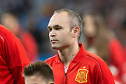 Andres Iniesta of Spain during the International friendly game football match between Spain and Argentina on march 27, 2018 at Wanda Metropolitano Stadium in Madrid, Spain - Photo Rudy / Spain ProSportsImages / DPPI / ProSportsImages / DPPI