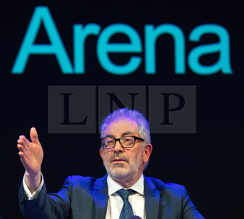 © Licensed to London News Pictures. 27/03/2018. Salford, UK. BOB KERSLAKE . The Kerslake Report in to the terrorist bombing of an Ariana Grande concert at the Manchester Arena on 22nd May 2017 , ordered by Greater Manchester Metro Mayor Andy Burnham , is published at a press conference at the University of Salford , at Media City . Amongst praise for many connected with the events, the report also highlights failings in communication at Greater Manchester Fire and Rescue on the night and disreputable behaviour by some sections of the media in the aftermath of the attack . Photo credit: Joel Goodman/LNP