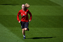 SOUTHAMPTON, ENGLAND - Thursday, April 5, 2018: Wales' Elise Hughes during a training session at St. Mary's Stadium ahead of the FIFA Women's World Cup 2019 Qualifying Round Group 1 match against England. (Pic by David Rawcliffe/Propaganda)